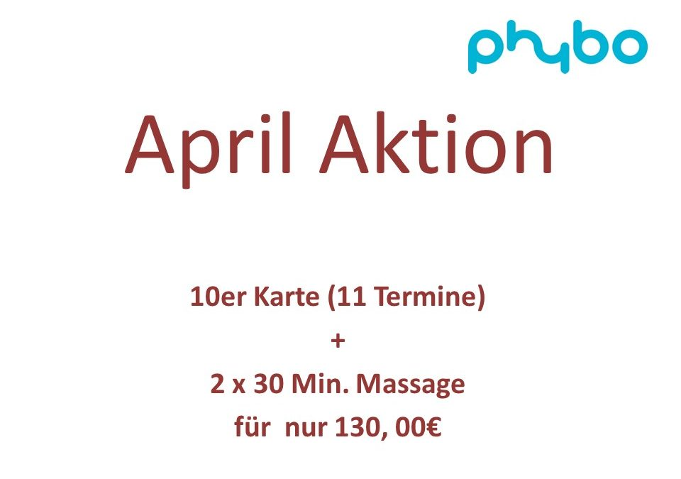 Neue Aktion im April!